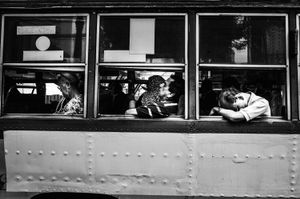 Bangkok rest in the bus, Thailand, 2015