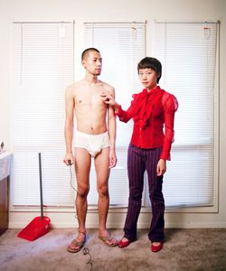 """Relationships work best when each partner knows their proper place. From the series """"Experimental Relationship"""" © Yijun Liao"""