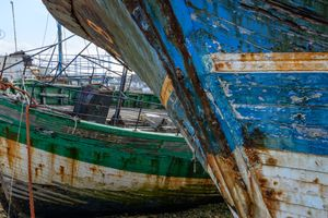 GHOST BOATS GREEN AND BLUE