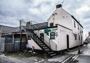 The back of the Rusty Dudley (local pub)