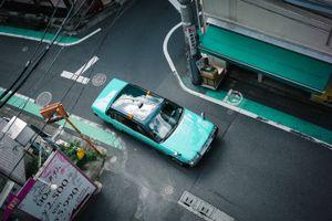 Tokyo taxi, Shibuya, Tokyo. Japan. 2017.