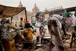 Djenné, Mali: Thursday is the town's 'trade day'. Market is full of people.  © Matjaz Krivic