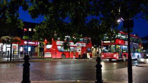 London. Notting Hill Gate. Autumn evening