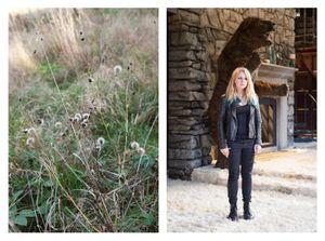 Autumn meadow & Mia
