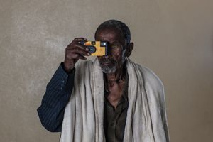 The World of Sight. Portrait of KISHMARIAN TSEGAY. From the project: Camera. Blind. Project. ©Ivo+Ana