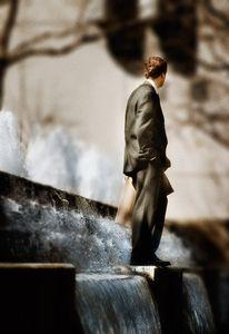Man in Fountain   © Seán Duggan