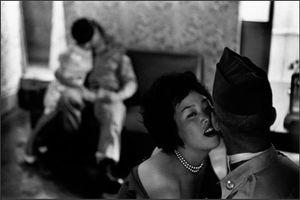 American GIs in club, Tae Song Dong, 1961. © René Burri / Magnum Photos