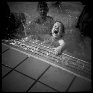Boy in Public Pool, New York, NY