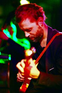 """Pal Nyberg playing in full concentration at """"de  kring """"Amsterdam"""