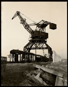 © Radek Skrivanek, Crane & loading docks, abandoned port structures, Aral Sea