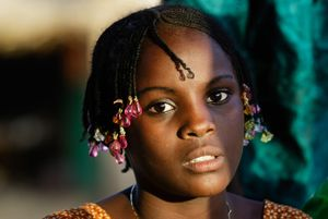 Young girl from Tahoua - Niger- dressed for the Eid al-Adha festival
