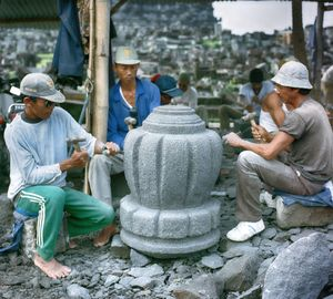 Indonesian Stone Temple Carvers