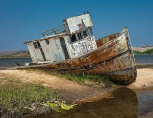Ship Wreck in Tomales Bay, California