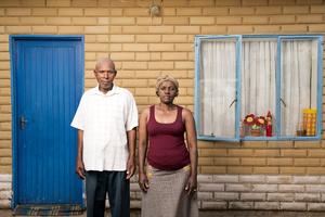 Vuyani Elliot Dwadube with his wife Pamela - Virginia, South Africa 2015