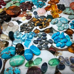 Gemstones in a Cairo Market