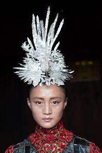 Girl with headdress China.