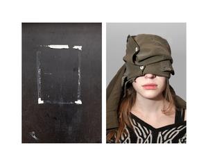 """""""Blackboard & Girl with bandaged eyes"""""""