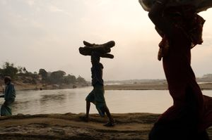 Bangladesh, along the river
