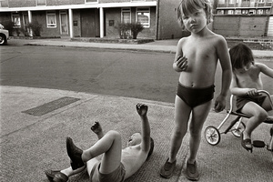 children playing, Poplar, London
