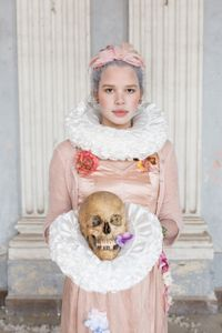 Young porcelain woman