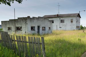 Abandoned White Buildings