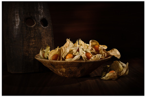 Still Life with Physalis and Mask