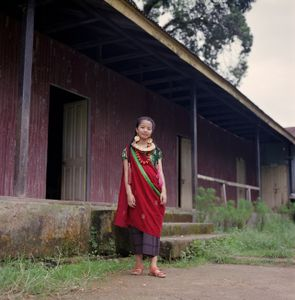 """Malati Subba in traditional dress. From the series """"Homebodies""""."""