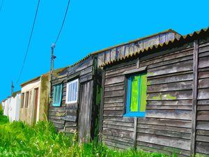 Port du bonhomme - Cabanes de pêcheurs - 2007