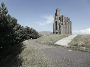 Aparan memorial, 50 km north of Yerevan, commemorating the Armenian genocide and the battle between Ottoman army and Armenian forces that occurred in this city in May 1918.