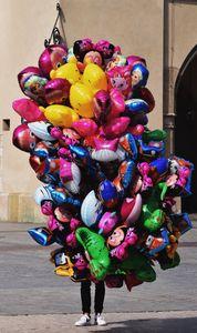 Balloon seller, Cracow