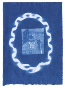 """Three Point Shot, 2014. From the series """"Cyanotypes."""" Showing at Roman Road. Courtesy of PhotoLondon."""