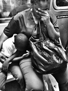 Exhausted NYC - Families (B&W) 7