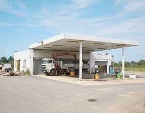 """Station #23, from """"Twentysix Abandoned Gasoline Stations"""" © Eric Tabuchi"""