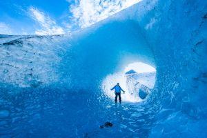 Blue hole of glacier