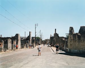 Oradour-sur-Glane, martyr village (France), main street. Courtesy of the artist.