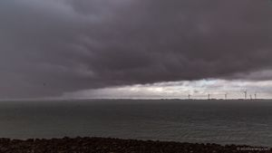 rainshower at the Oosterschelde