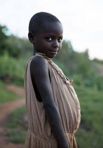 Girl at Rwandan Coffee Farm (Category - Portrait)