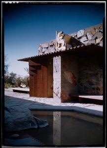 "Frank Lloyd Wright's Taliesen West, Scottsdale, AZ, 1946. From the photobook ""Modern Photography and the American Dream"" © Maynard Parker"