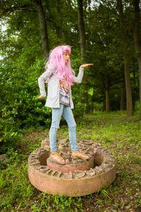 Pink wig little girl #3