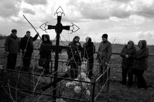 The funeral day, Samara Oblast, Russia, 2014
