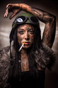 Woman warrior soldier 1