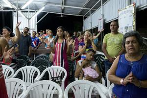 Worship at an evangelical church in Guanabacoa. Havana, 2015