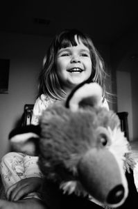 Little girl and Mr. Fox