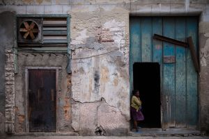 Woman in Doorway, Havana, Cuba, 2011