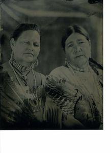 Kathleen and Chenina, Little Bird. Accohanock Tribe.