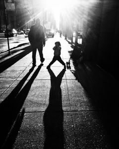 Father & Son Go to School, Chicago, 2017