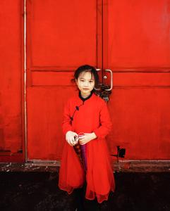 Girl posing in Chinatown. Manhattan