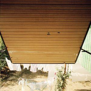 Shrapnel holes in the shutters of a house, Vukovar.  © Colin Dutton