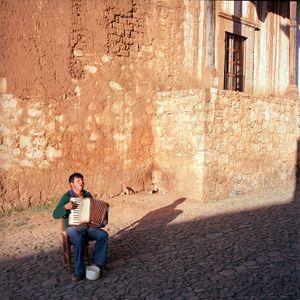 Blind Accordion Player, Patzcuaro, Michoacán, México 1986