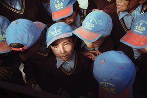 Children in their uniforms